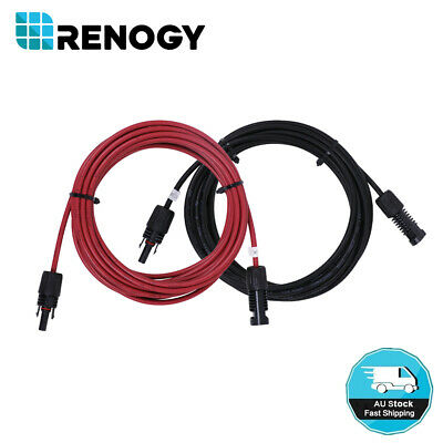 One Pair Solar Wire 3m/5m 4mm²/6mm² Solar Panel Extension Cable MC4 Connector