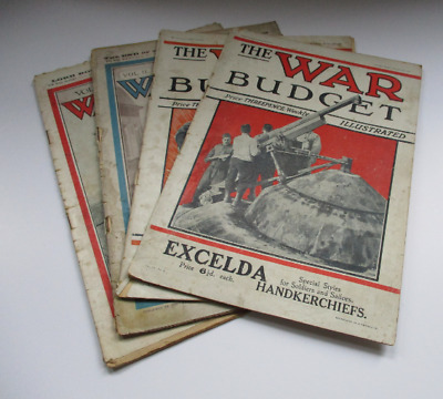 Job Lot of 4 The War Budget Illustrated Newspaper - 1 From 1914, 3 From 1915