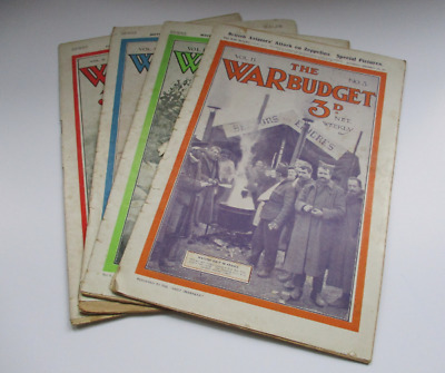 Job Lot of 4 The War Budget Illustrated Newspaper - All From 1914