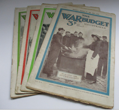 Job Lot of 4 The War Budget Illustrated Newspaper - All From 1915