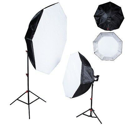 Pair of universal fit softboxes 90cm and 120cm octa