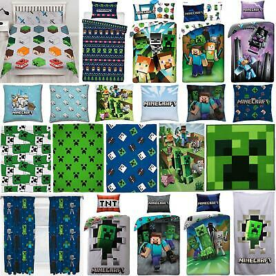 Minecraft Cushion Duvet Cover Set Bedding Single Double - Sold Separately