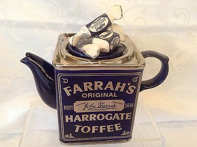 Teapottery Swineside Novelty Collectable Teapot Farrahs Toffees Great Condition