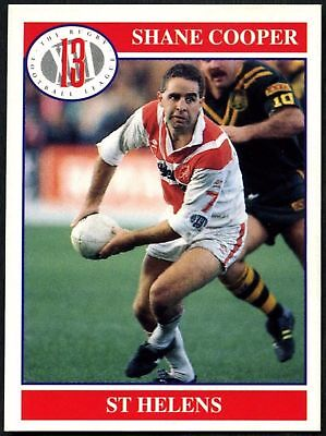 Shane Cooper #70 St Helens Merlin Rugby Football League 1991 Card (C599)