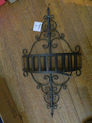 Brown Wrought Iron Metal Wall Half Circle Rounded Shelf Better Homes & Garden