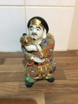 Japanese Satsuma Figurine Of A Man In Traditional Dress