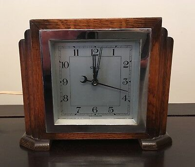 Beautiful Sterling-Croydon synchronous mantel clock - WORKS