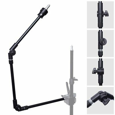 """3-Section 360° Adjustable Articulated Articulating Boom Arm w/ 1/4"""" 3/8"""" Thread"""