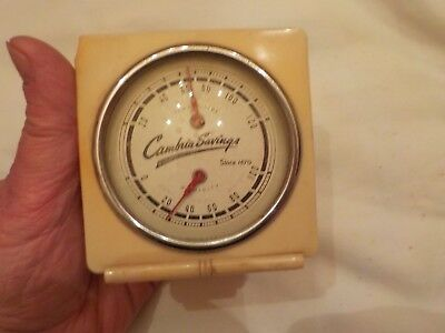 Made In Usa Advertising Thermometer And Humidity  Cambria Savings