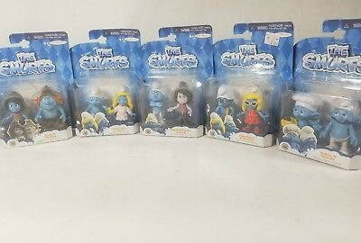 NEW Lot Of 5 Entire Collection The Smurfs 2013 Figures **FREE SHIPPING**