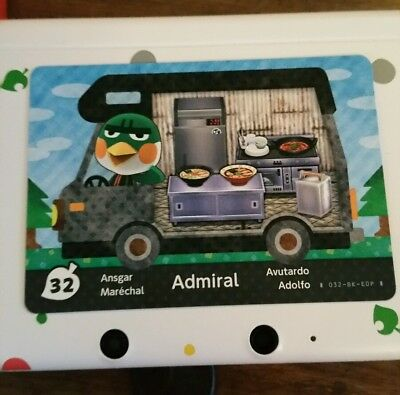 animal crossing new leaf welcome  amiibo card  admiral 32