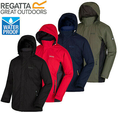 Regatta Mens Thornridge Waterproof Hydrafort Insulated Fleece Panel Jacket