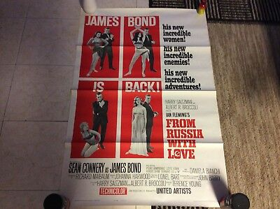 From Russia With Love James Bond 007 One Sheet 1964 Movie Poster Style B 41X27