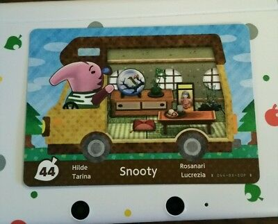 animal crossing new leaf welcome  amiibo card snooty 44