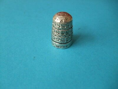 Antique Charles Horner  Chester 1895 Silver Thimble.