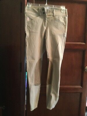 tailored sportsman Size 12 Tan Low Rise Breeches