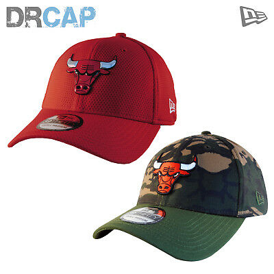 New Era 39Thirty Nba Baseball Caps Inc Chicago Bulls Basketball Stretch Fit S-Xl