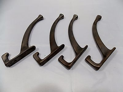 Matching-set-4-Antique-Cast-Iron-from-period-Double-Coat-Hook