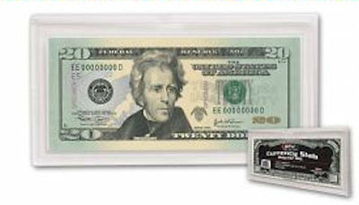 "5  Deluxe Currency Slab Protectors Holders Regular Dollar Bill 6 15/16"" x 3 5/8"""