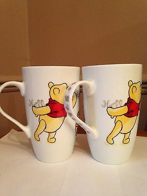 Set of 2 Disney Winnie the Pooh Collectable Mugs, Never Used been on Display