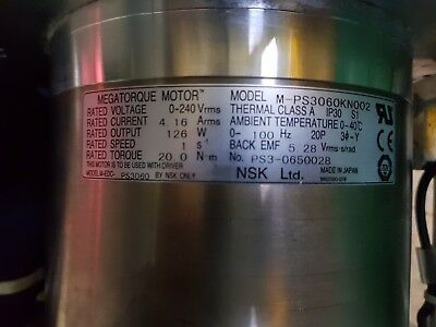 NSK Megatorque Motor M-PS3060KN002 .Fedex Shipping