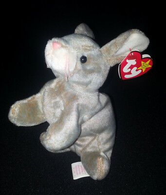 NIBBLY The Rabbit TY BEANIE BABY Plush Retired P.V.C Pellets Multiple Tag Errors