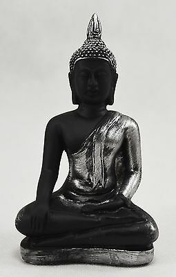 Superb Brushed Silver Meditating Buddha Statue Budda/Buddhism/Enlightenment