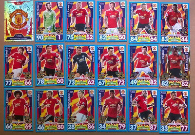 17 18 Match Attax 18 Manchester United Cards All Listed Topps 2017/2018 Mufc