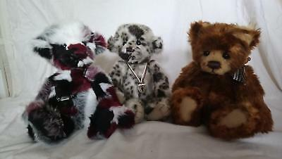 Charlie Bears - Penny Chew, Crumpet and Scamp - Beautiful