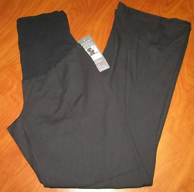 New Oh Baby By Motherhood Secretly Fit Belly Black Maternity Pants Sz M