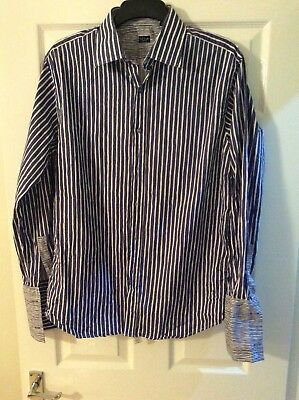 "Paul Smith LS Double Cuff Shirt Size 17"" Collar (L - 22"" Pit To Pit)"
