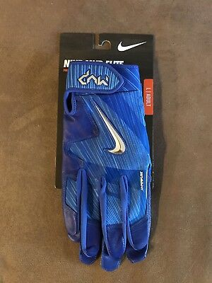 Nike MVP ELITE Batting Gloves L. ROYAL BLUE. Men's. New.