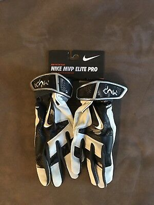 Nike MVP ELITE Batting Gloves L. Grey/Black. Men's. New.