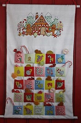 Gingerbread House Christmas Advent Calendar & Stockings - Cross Stitch Charts