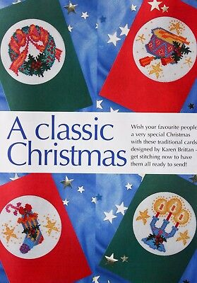 'A Classic Christmas' Christmas Cards  Cross Stitch Chart - 4 Designs