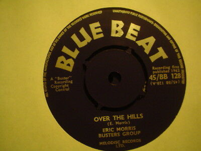 Uk Blue Beat Bb 128-Eric Morris-Over The Hills/lazy Woman-Nr Ex