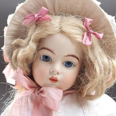 "28.7"" Adorable BRU Porcelain Doll Repro - So Beautiful"