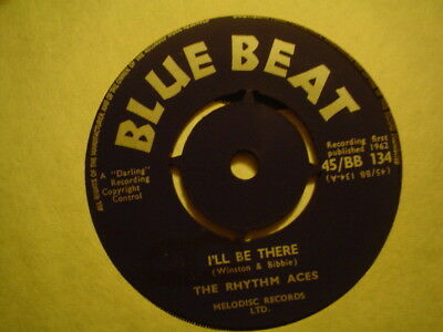 Uk Blue Beat Bb 134-The Rhythm Aces-I`ll Be There/don Drummond-Dew Drops-Nr Ex