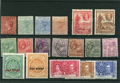 Antigua. 18 -- Qv/g5/g6 Mm/used Stamps On Stockcard
