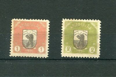 Finland.2 -- 1921 Mm Stamps With Dark Gum On Stockcard