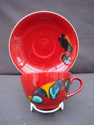 Poole Pottery Odyssey Cup And Saucer