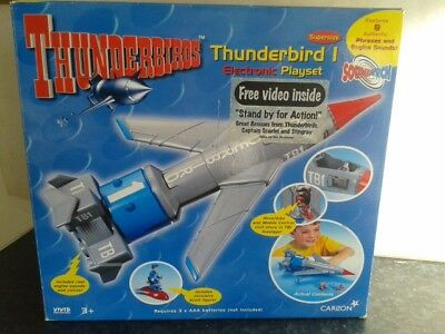 Thunderbird  1 Supersized Electronic Playset 1999 Rare With Box And Video