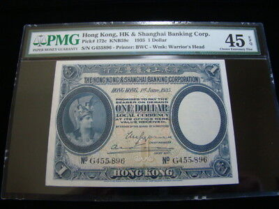 Hong Kong Pick #172c 1935 $1.00 PMG Graded Choice Extremely Fine 45 Very Nice!!
