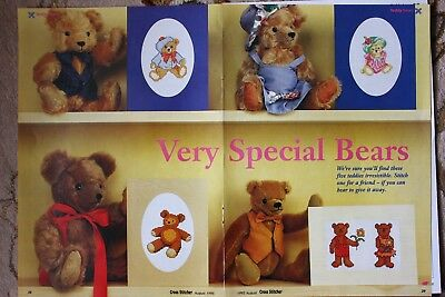 'Very Special Bears' Cross Stitch Chart - 4 Teddy Bear Card Designs