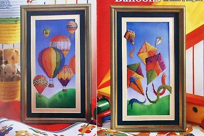 Balloons & Kites Pictures - Colourful Cross Stitch Pictures Chart