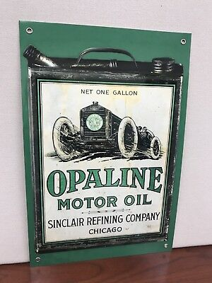Sunclair Opaline Oil Gasoline Racing Gas vintage Style sign Can 18x12