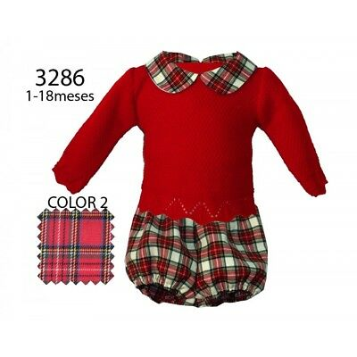 Baby Boy Girl Romany Spanish Tartan Jam Pants & Knitted Jumper Top by Alber AW17