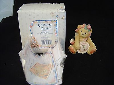 Enesco Cherished Teddies Be My Bow Girl Bear Cupid Figurine Priscilla Hillman