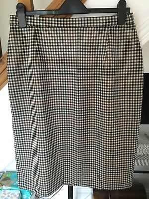 Vintage St Michael Gingham checked Skirt. Size 12 14 16
