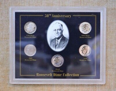 1946-1996 ROOSEVELT DIME COLLECTION - 50th ANNIVERSARY SET